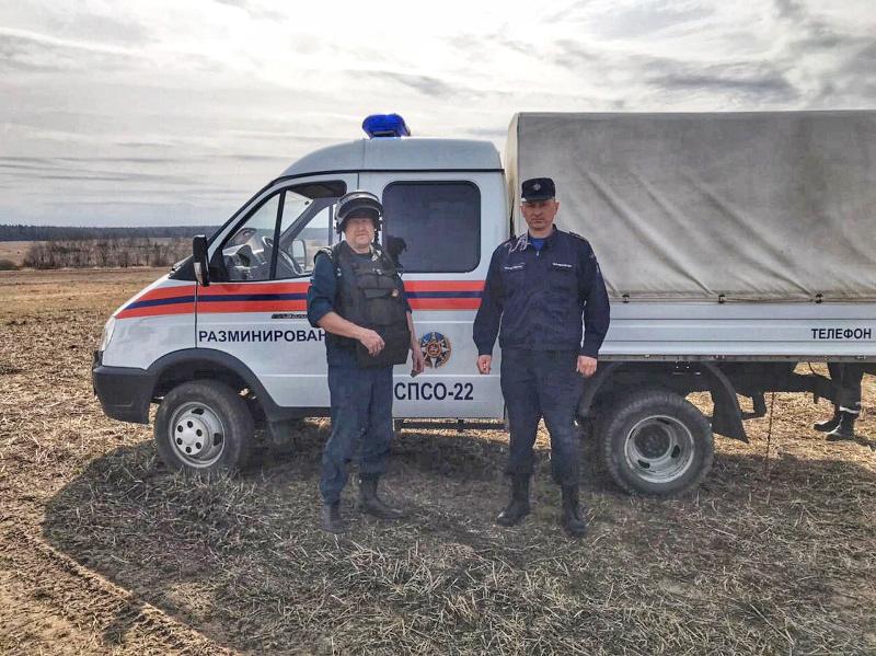 Шесть снарядов времен ВОВ обезвредили взрывотехники ГКУ МО «Мособлпожспас»