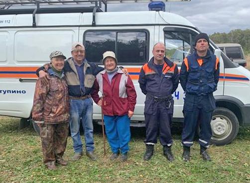Спасатели ГКУ МО «Мособлпожспас» вывели из леса трех грибников